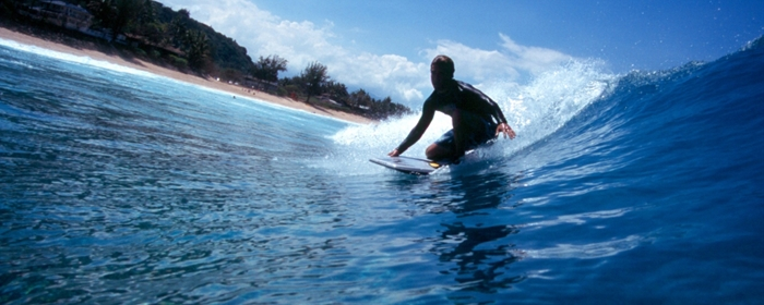 Surfing in lahaina maui