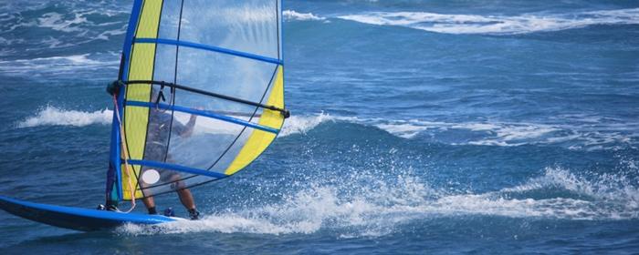 windsurfing near pu'u kukui